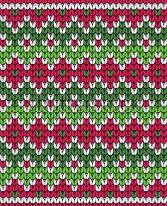 jacquard color rojo y verde Fair Isle Knitting Patterns, Knitting Stiches, Fair Isle Pattern, Knitting Charts, Knitting Designs, Knit Patterns, Baby Knitting, Stitch Patterns, Tejido Fair Isle