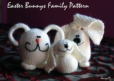 #knitted easter bunnies