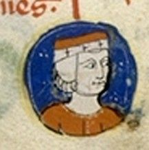 Geoffrey Plantagenet, 4th son of Henry II of  England and Eleanor of Aquitaine. Duke of Brittany, father of Eleanor, Maude, and Arthur of Brittany.  Brother of Kings Richard I, and John.