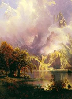 Albert Bierstadt. Detail from Rocky Mountain Landscape, 1870.