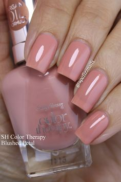 pr sample hiya dolls i have twelve new sally hansen color therapy poli Opi Gel Nails, Manicure And Pedicure, Toe Nails, Fabulous Nails, Gorgeous Nails, Pretty Nails, Sally Hansen Color Therapy, Sally Hansen Nails, Nail Candy