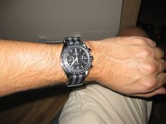 Omega Speedmaster Co Axial with classic Omega NATO strap
