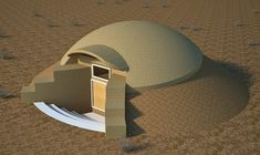 The Desert Dome Shelter is designed for simplicity of construction ...