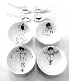 Bathing girls tea set by Esther Horchner