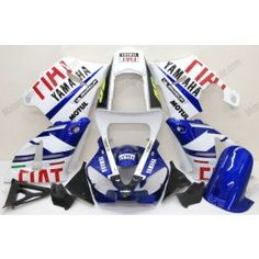 Yamaha YZF-R1 2000-2001 - FIAT - White/Blue Injection ABS Fairing | $659.00