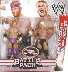 """WWE Series 18 Battle Pack: Zach Ryder vs Dolph Ziggler Figure, 2-Pack by Mattel. $32.91. From the Manufacturer                World Wrestling Entertainment Figure 2-Pack Series No.18: Ultimate Rivals, Supreme Teams and Unlikely Allies are just some of the pairings featured in these WWE figure 2-packs, created in Superstar scale. Each approximately 6"""" figure is designed with amazing accuracy and detail. Collect all your favorites and bring home the action of WWE...."""