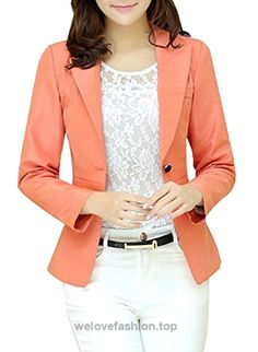 Aro Lora Women's Long Sleeve Slim Fitted Casual Work Plain Suit Jacket Blazer US 10-12 Pink  BUY NOW     $21.99    This unique design blazer is slim fitted and it can wear both in formal and casual occasion. It can wear to work or wear to party.S=US 0, M=US 0/2, L=US 4, XL=US 6, X ..