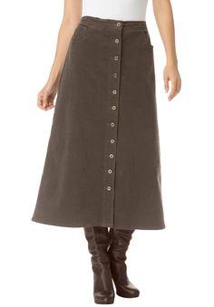 Fashion Bug Women's Plus Size Corduroy Skirt www. Winter Skirt Outfit, Skirt Outfits, Dress Skirt, Denim Fashion, Skirt Fashion, Fashion Outfits, Plus Size Skirts, Plus Size Outfits, Corduroy Skirt