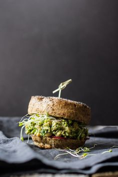 Avocado Pesto Chickpea Salad Sandwiches | Edible Perspective