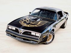 Firebird, Black and Gold - this is what fills my dreams ( along with a chiseled guy in jeans and boots driving it. Lol. )