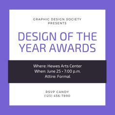 Use this customizable Violet Bordered Awards Night Invitation template and find more professional designs from Canva. Plaque Design, Rsvp, Awards, Invitations, Graphic Design, Templates, Night, Stencils, Vorlage
