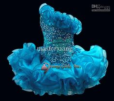 Sleeveless Beads toddler mini Infant Cupcakes Organza Ballgown Little kid Wedding Flower Girls dress STATENATIONAL Pageant Dresses custom