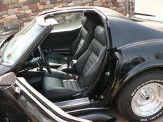 MrMikes Leather Corvette Seat Upholstery Fiero seats in a 1969 Corvette Semi-Sport style
