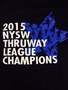 NYSW Thruway League Championship T-Shirts. #design #custom #graphicdesign #embroidery #screenprinting #tshirt #apparel #soccer #newyork