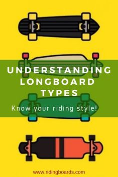 It's easy to get overwhelmed by the number of options and types of longboards available. The first question to ask yourself is, what's your riding style. Then, take a brief look at the things that make one longboard different from another.  Next, put the pieces together and see how each feature is associated with a given riding style.  Click to read more! (image credit:  vecteezy.com)