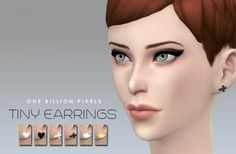 One Billion Pixels: Tiny Earrings • Sims 4 Downloads