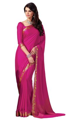 Silk Trendy Paisely Double Blouses Latest Soft Plain Pink Unique Bridal Collection Sarees: #Amazon : #Clothing & Accessories  http://www.amazon.in/gp/product/B01785ZTKA/ref=as_li_tl?ie=UTF8&camp=3626&creative=24822&creativeASIN=B01785ZTKA&linkCode=as2&tag=onlishopind05-21  #Soft #Silk #Sarees