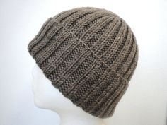 Chocolate Brown Wool Hat Men/Teen Boys/Women Hand by Girlpower, $42.00