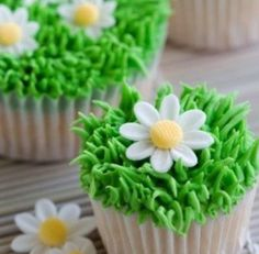 Creative grass cupcakes :)