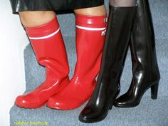 Rubber Rain Boots, Shoes, Fashion, Boots, Moda, Zapatos, Shoes Outlet, Fashion Styles, Shoe