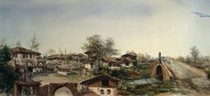 My Persian-Speaking Friends - A painting of Rasht, Iran from 1895