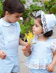 Vestidos de ceremonia de Pilar del Toro #flowergirl #pajes #tendenciasdebodas