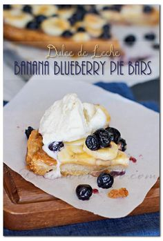 Dulce de Leche Banana Blueberry Pie Bars, gluten free crust, slow cooker recipe