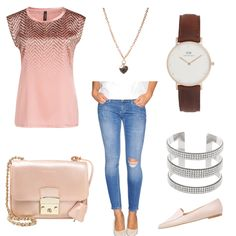OneOutfitPerDay 2016-02-14 - #ootd #outfit #fashion #oneoutfitperday #fashionblogger #fashionbloggerde #frauenoutfit #herbstoutfit - Frauen Outfit Frühlings Outfit Outfit des Tages Sommer Outfit Armband Bluse Coccinelle Daniel Wellington Jeans LTB MARCCAIN Slipper sweet deluxe Tasche Uhr Zign