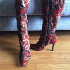 One of a kind Boots Various Fabrics and patterns Shoes Heeled Boots