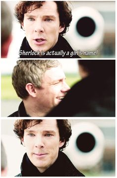 This scene breaks my heart cause Sherlock thinks its the last time he is going to see John and he wants to say so much but what he wants more than anything is to see John laugh!! Look at him! He is MEMORIZING John's laughter!!<---That. <-- STAHP