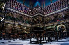 Architecture - 25 most beautiful and magnificent libraries around the world  The Portuguese Royal Reading Room, Rio de Janeiro, Brazil