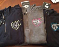 Nurses Monogram Sweatshirts with by PerfectlyPersonalNWA on Etsy