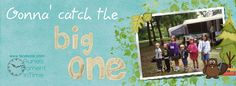 Gonna catch the Big One! Free personalized fishing themed timeline cover