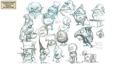 2009 - I worked for Sony Pictures Animation, I was still in Brittany in those days. These are the very first sketch boards I drew to find the good ones. The project is actually cancelled and Sony allowed me to show them.Sony Pictures Animation (c) 2009 -…