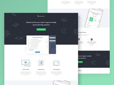 SprintPoker.io - landing page design by Piotr Kmita #cta #illustration #iphone #landing #light  #page #testimonial #webdesign