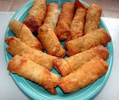 Homemade Egg Rolls Sure Beat Takeout!!! These egg rolls are crispy golden brown with a delicious filling of fresh cabbage and carrots and if you choose, you can also add pork- chicken or shrimp. There is no reason to pay big $$ for take-out when you can make it better at home!