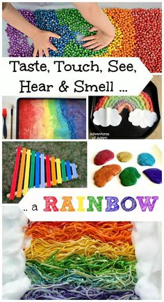 Kids will really enjoy these AWESOME 5 senses science & sensory activities!  Fun for spring & St. Patrick's day too