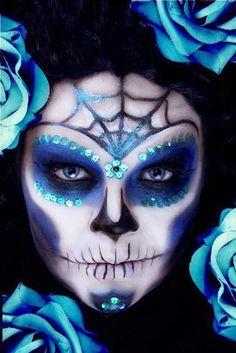 Halloween makeup ideas: Day of the Dead(Dia de Muertos). Sugar scull.