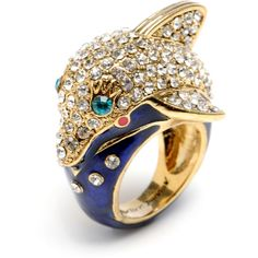 Crystal Dolphin Ring