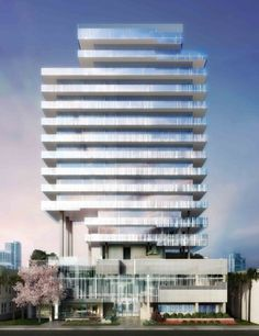 Designed by Terra Group,Rene Gonzalez Architect in Miami Beach,United States with date Images by Michael Klausmeier. Terra Group + Rene Gonzalez Architect recently unveiled their design for GLASS, a new residential tower composed of . Miami Architecture, Modern Architecture Design, Facade Design, Modern Buildings, Beautiful Buildings, Amazing Architecture, Office Buildings, Minimalist Architecture, Commercial Architecture