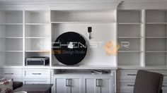 Custom made maple wall entertainment unit in Forest Hill. 