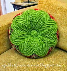 Todo crochet: Almohadón de original diseño - punto zig-zag
