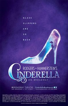It's a fine line, I'm sure, for promotions teams to develop new iconography for beloved musicals. I mean, when the inevitable revival of . Broadway Plays, Broadway Theatre, Broadway Shows, Musicals Broadway, Rodgers And Hammerstein's Cinderella, Cinderella Broadway, Cinderella Theme, Theatre Nerds, Music Theater