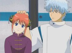 What you don't see is that he just wiped a booger in her hair – Gintama All Anime, Anime Guys, Gintama Gif, Katsura Kotaro, Gintama Wallpaper, Samurai, Okikagu, Anime Demon, Anime Figures