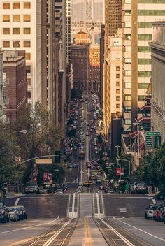 California Street in San Francisco / photo by Chris Chabot.the first time i drove in san francisco was quite nerve qracking but the city is one of the most interesting ive ever visited, immensely diverse. Places Around The World, Oh The Places You'll Go, Places To Travel, Places To Visit, Around The Worlds, Travel Destinations, Wonders Of The World, Travel Photos, Travel Tips