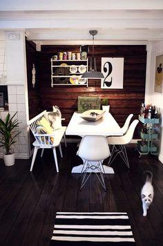 בית החיות: בית סקנדינבי שמאוהב עד כלות בחיות המחמד שלו   בניין ודיור Dining Room, Interior Design, Places, House, Ideas, Nest Design, Home Interior Design, Home, Interior Designing
