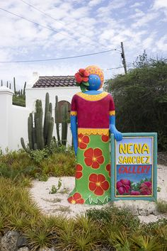 Landhuis Jan Kok and the Nena Sanchez Gallery - Curaçao For 91 Days Caribbean Art, Caribbean Vacations, Willemstad, Little Island, Tropical Paradise, Cool Artwork, Street Art, Vibrant, Colours