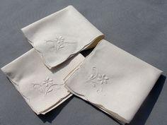 Handmade Embroidery Linen Tea Napkins