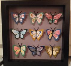 3D Butterfly Paper-art Display Picture/ Entomology by CraftyKWorks