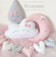 Funny Pillows, Baby Pillows, Cloud Nursery Decor, Travel Theme Nursery, Baby Fruit, Baby Sewing Projects, Sewing Toys, Diy Doll, Baby Decor